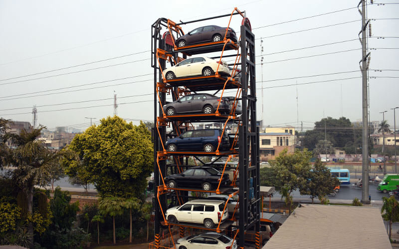 Installation of Pakistan's 1st rotary parking system.